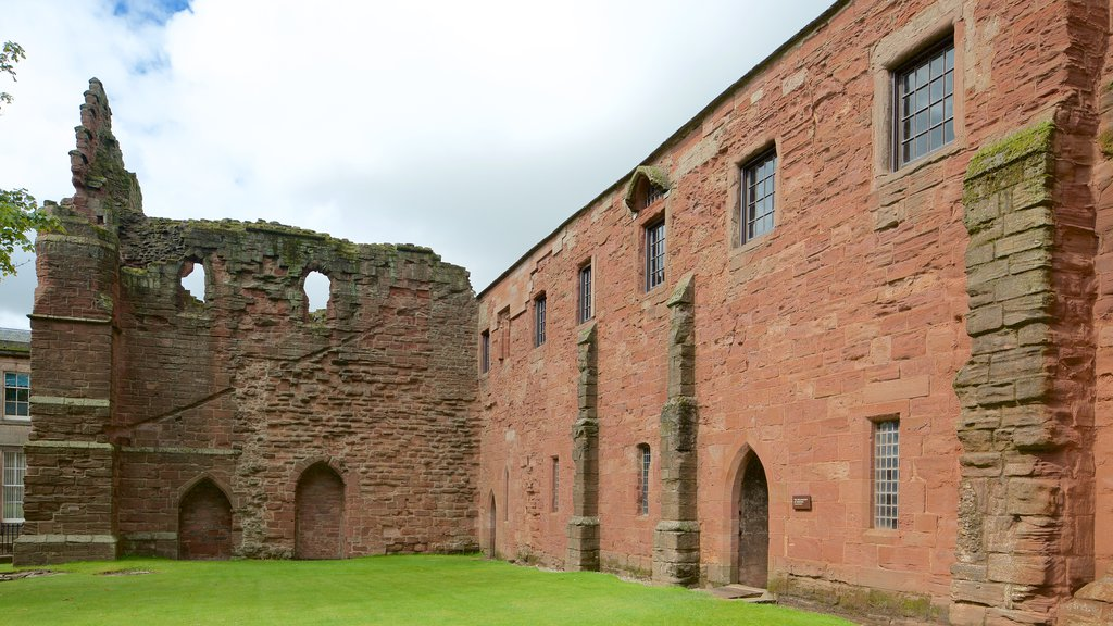 Arbroath Abbey which includes heritage architecture and heritage elements