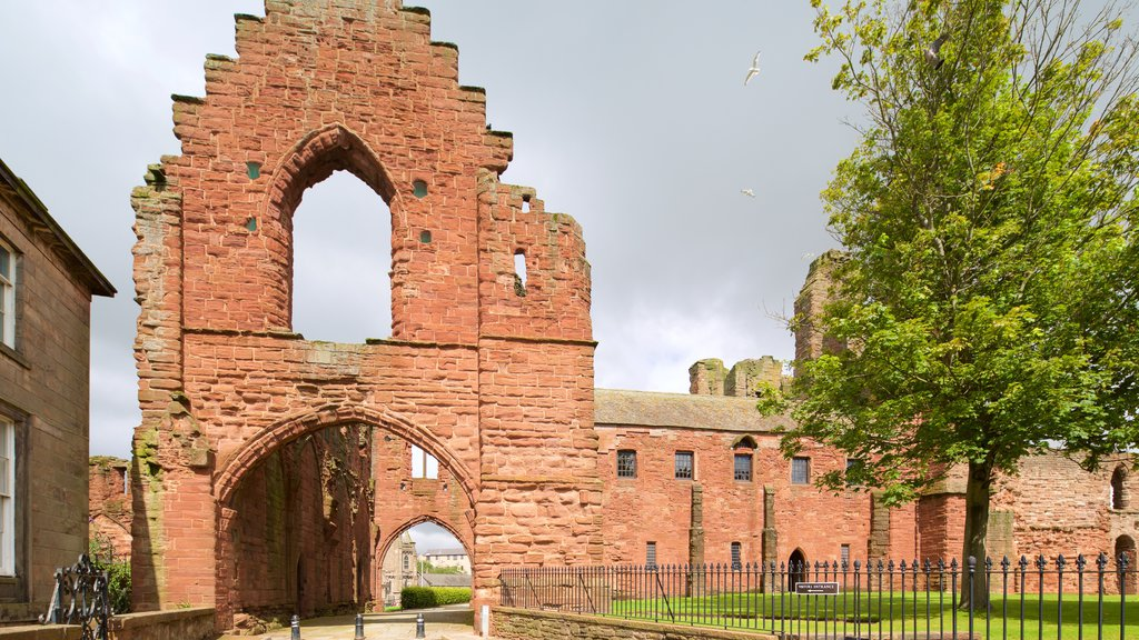 Arbroath Abbey showing heritage elements and heritage architecture