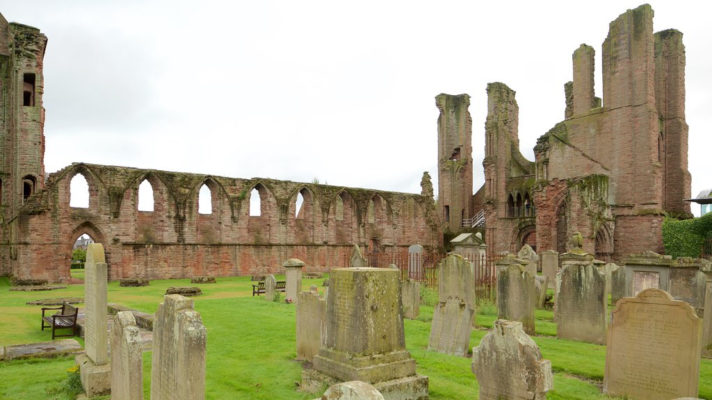 Arbroath Abbey featuring heritage architecture, heritage elements and a cemetery