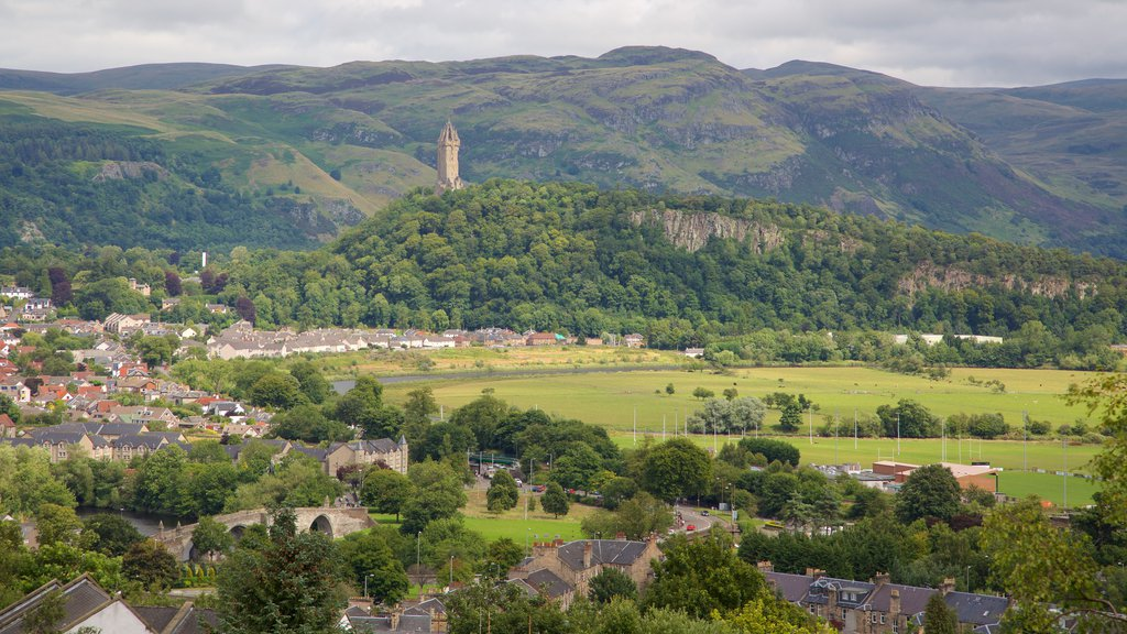 National Wallace Monument featuring a small town or village