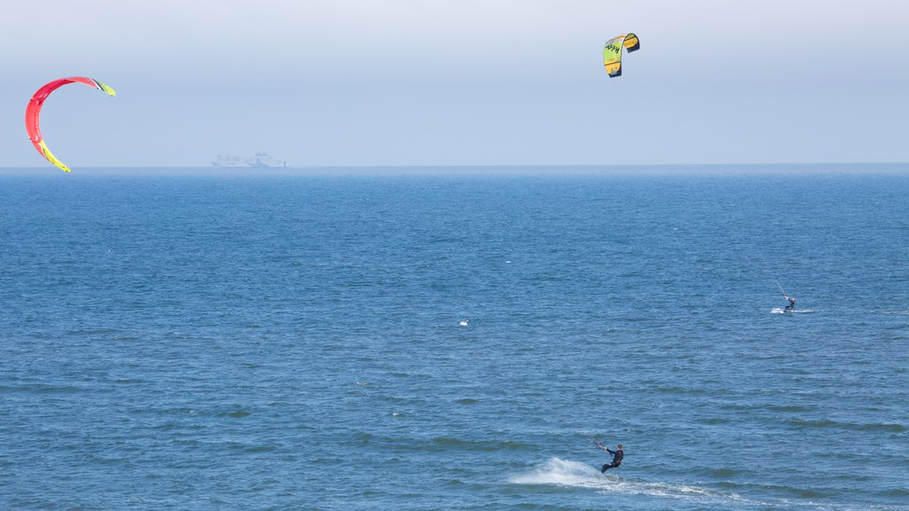 Balmedie Country Park featuring general coastal views, kite surfing and waves
