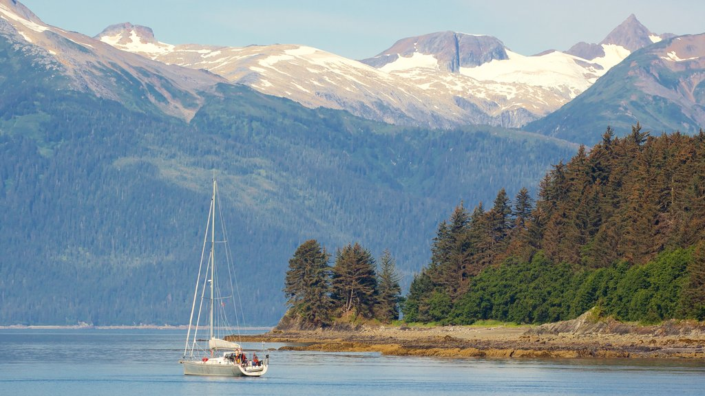 Juneau featuring sailing, forests and general coastal views