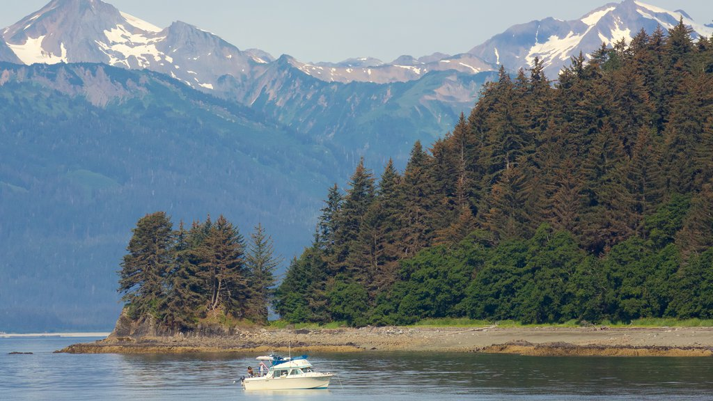 Juneau showing forests and general coastal views