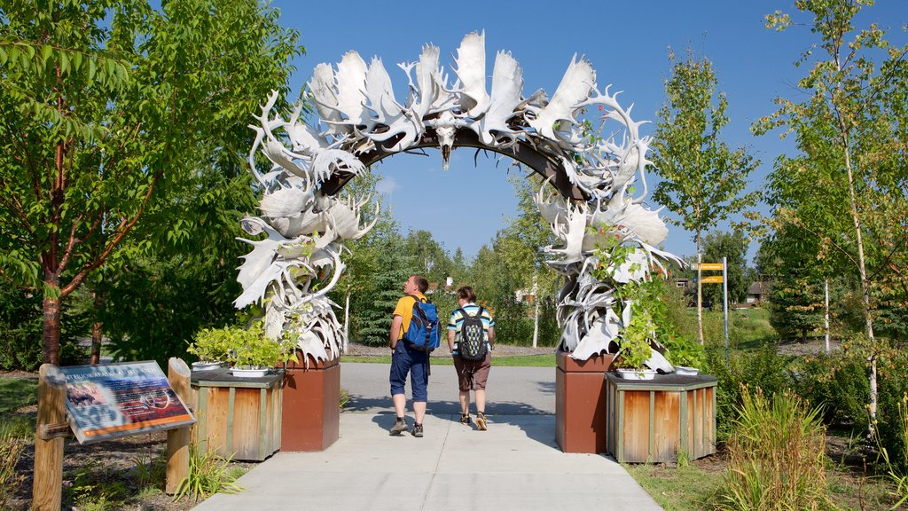 Fairbanks featuring a garden and outdoor art