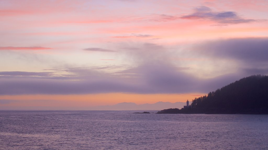 Southeast Alaska - Inside Passage which includes general coastal views and a sunset