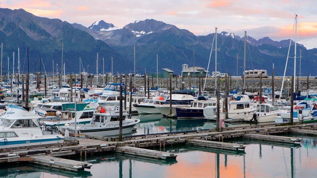 Seward featuring general coastal views, boating and sailing
