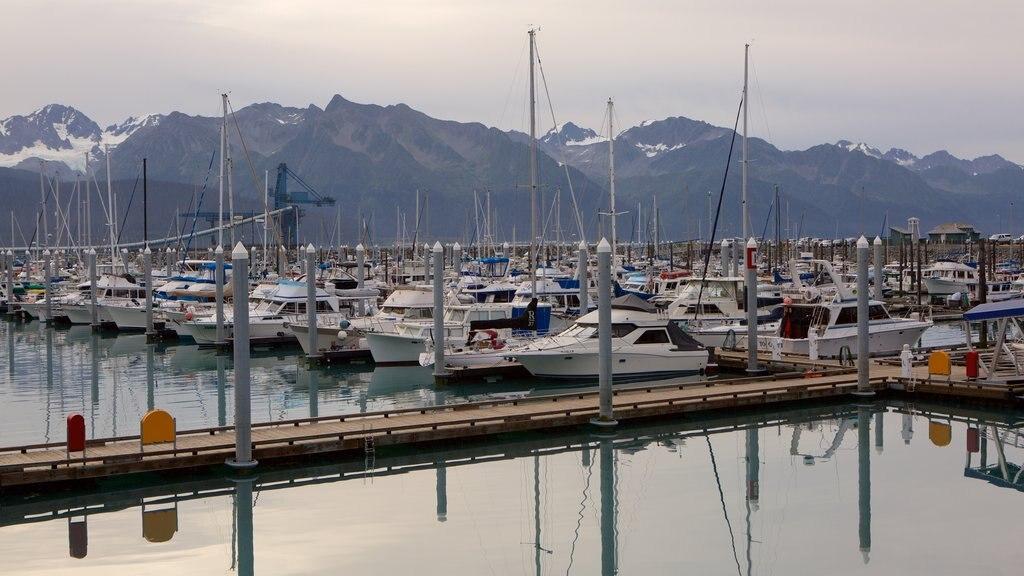 Seward showing a marina