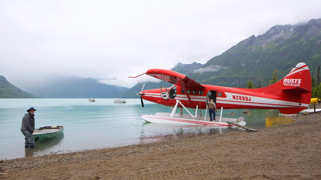 Lake Clark National Park and Preserve featuring a pebble beach