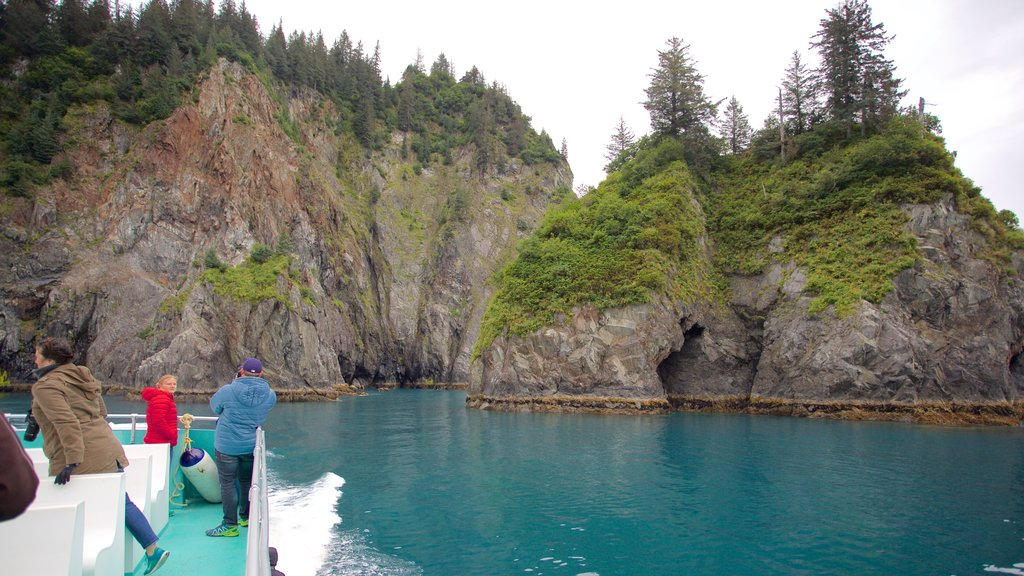 Kenai Fjords National Park featuring rugged coastline and whale watching