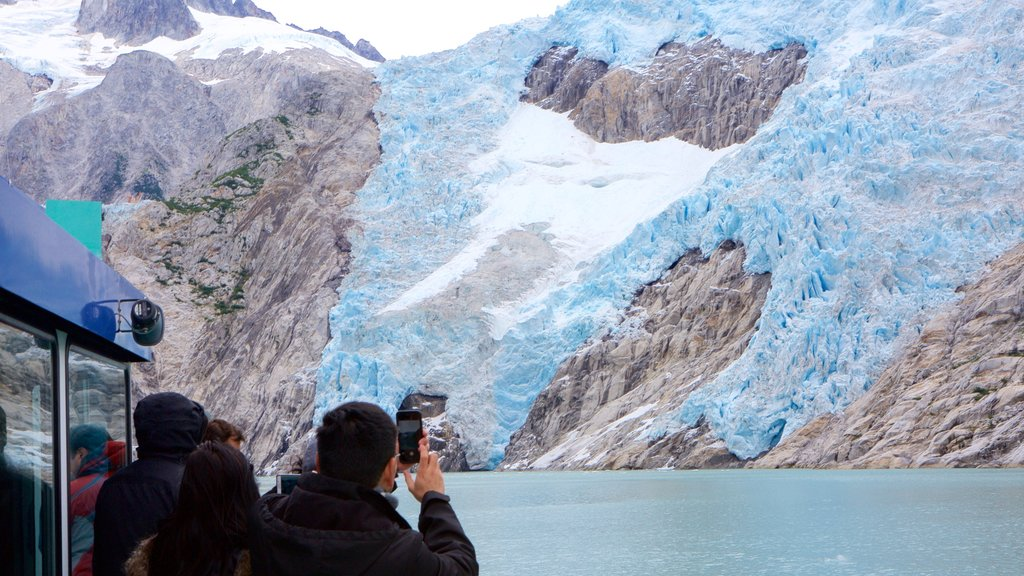 Kenai Fjords National Park which includes snow as well as a small group of people