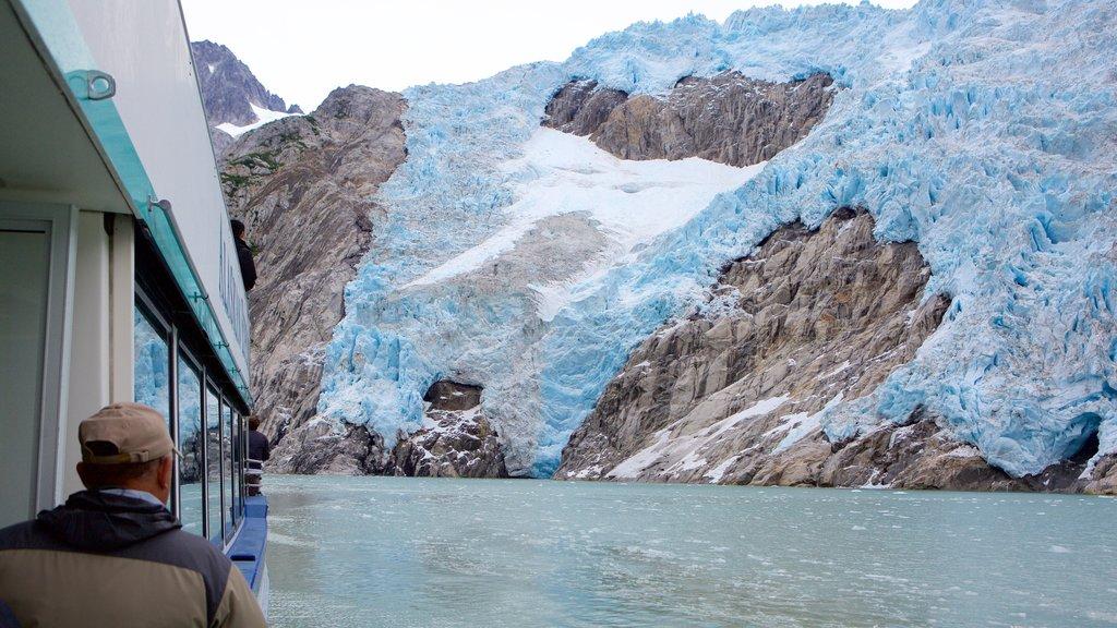 Kenai Fjords National Park que incluye costa escarpada y nieve