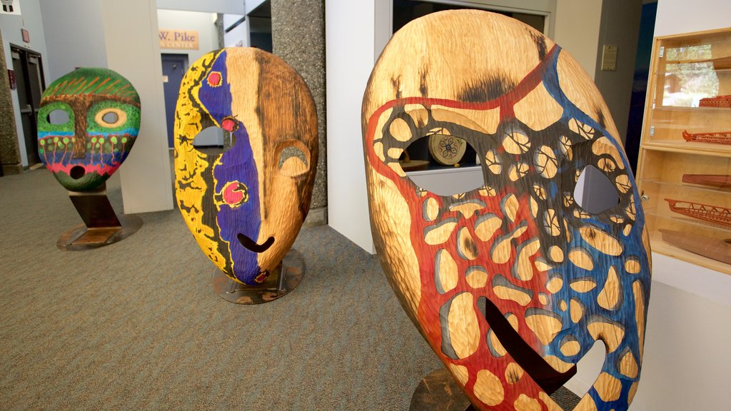 Alaska Native Heritage Center showing art