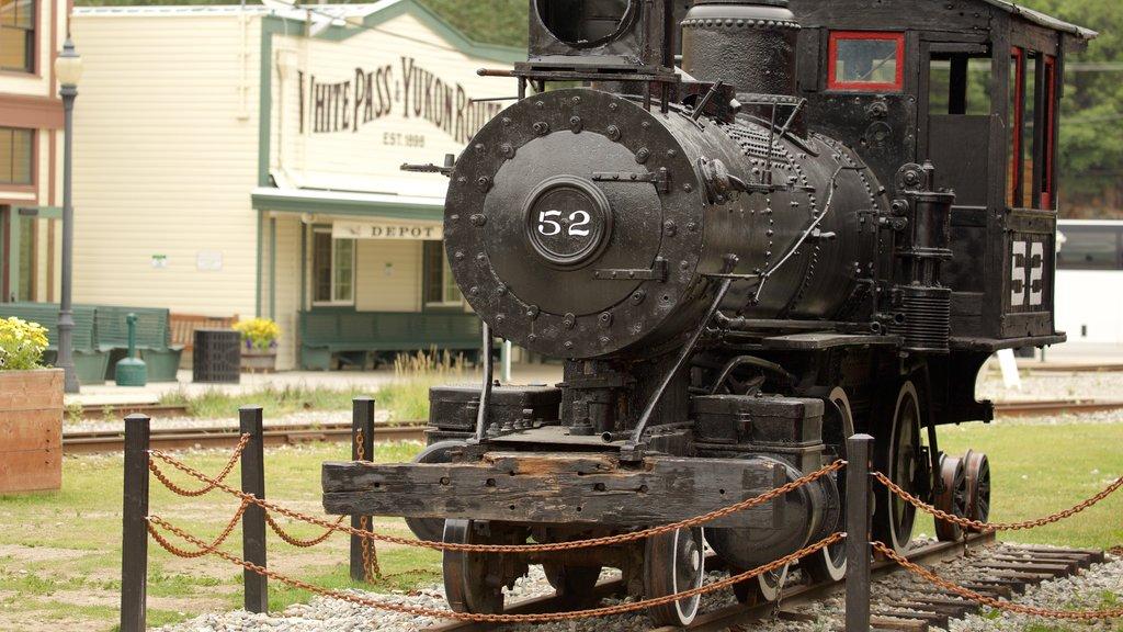 Klondike Gold Rush National Historic Park showing railway items