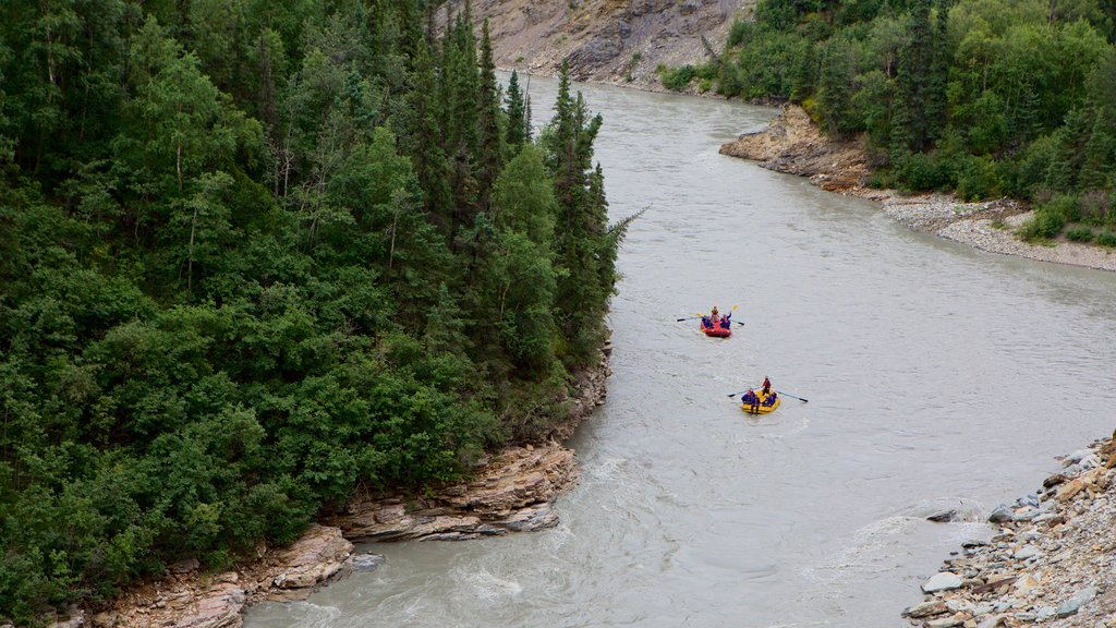 Interior Alaska featuring a river or creek and kayaking or canoeing