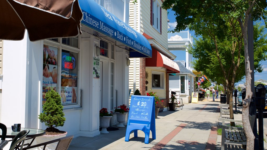 Ocean City which includes street scenes