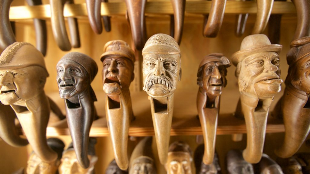 Leavenworth Nutcracker Museum featuring interior views and shopping