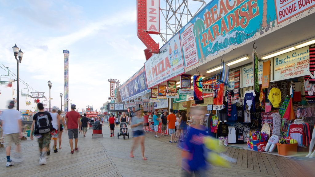 Seaside Heights which includes markets, signage and street scenes