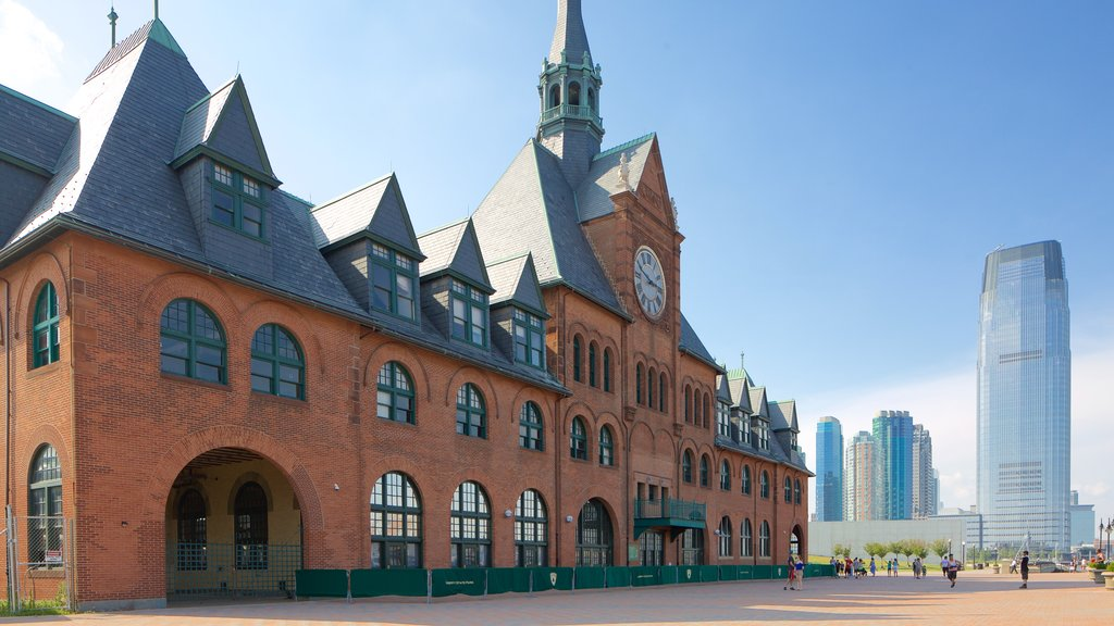 Central Railroad of New Jersey Terminal showing heritage elements and street scenes
