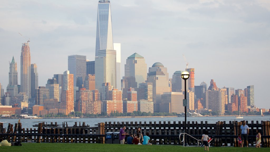 Hoboken Waterfront which includes a city, general coastal views and cbd