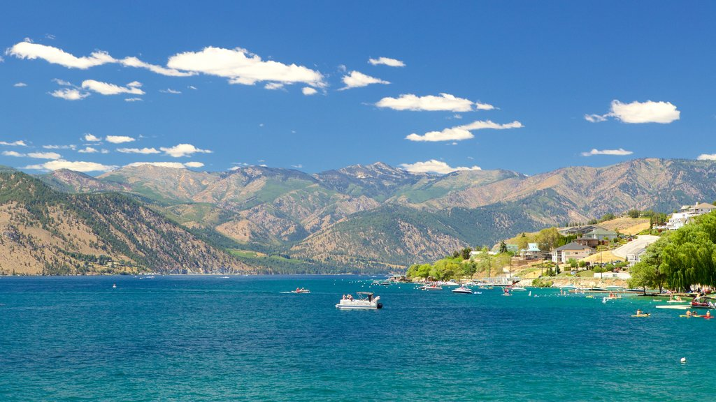 Lake Chelan featuring general coastal views, mountains and landscape views