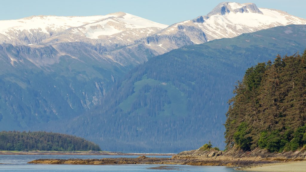 Juneau showing forests, mountains and landscape views