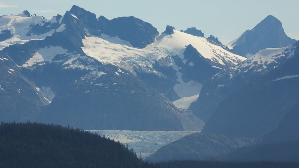 Juneau featuring snow, landscape views and mountains