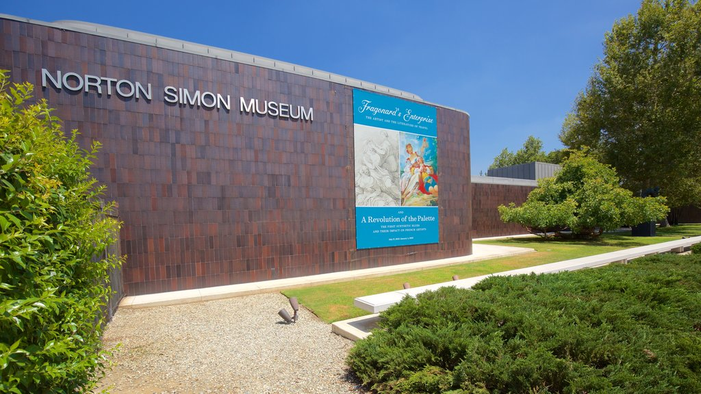 Norton Simon Museum showing signage