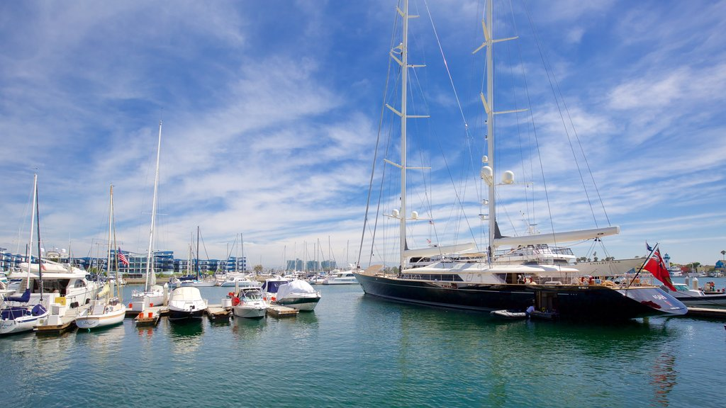 Marina del Rey which includes boating, a marina and sailing