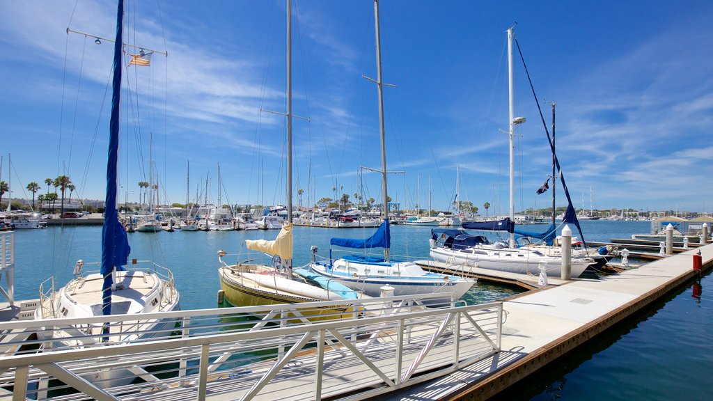 Marina del Rey showing sailing, boating and a marina