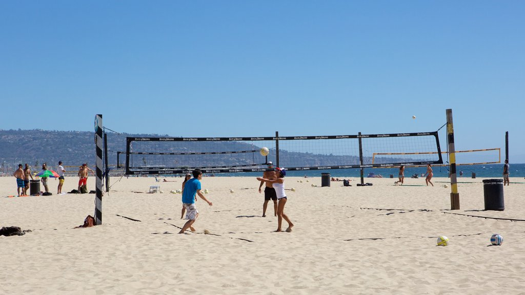 Manhattan Beach featuring a sporting event, a sandy beach and general coastal views