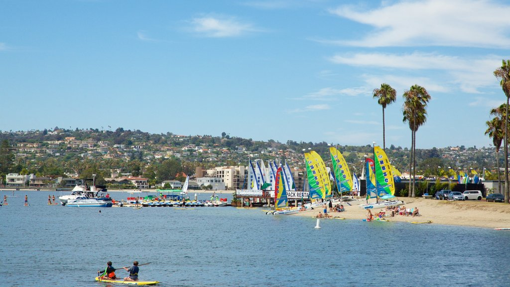 Mission Bay featuring a beach, a coastal town and general coastal views
