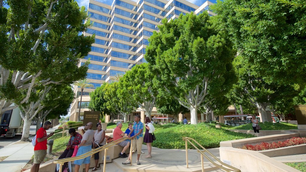 Burbank which includes a garden as well as a small group of people