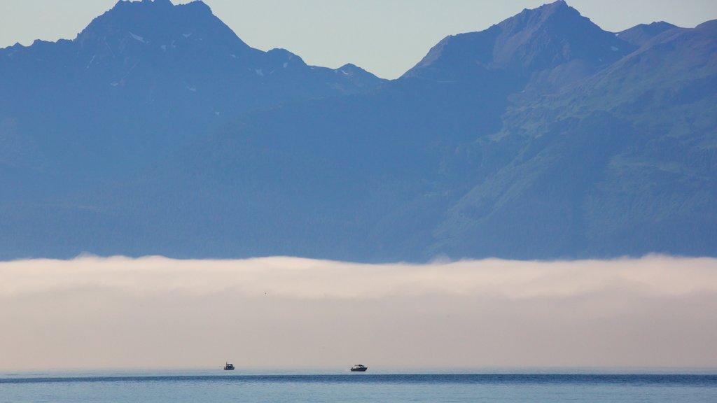 Juneau que incluye montañas y neblina o niebla