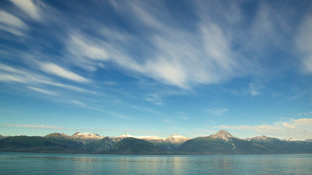 Juneau featuring mountains, a lake or waterhole and landscape views