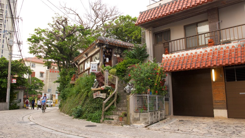 Tsuboya Pottery Museum which includes a small town or village and street scenes