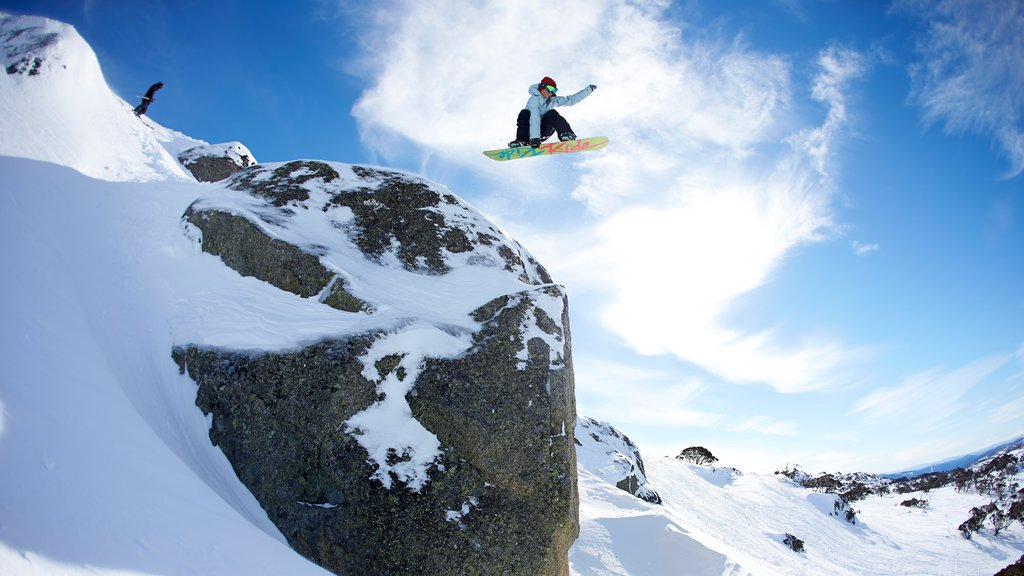 Perisher Ski Resort featuring snow boarding and snow