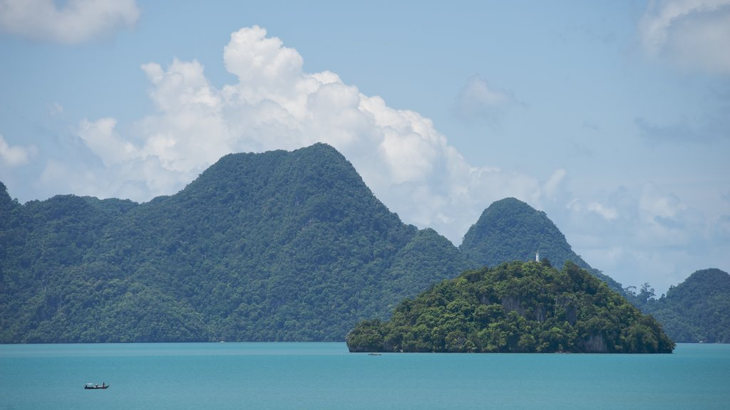 Datai Bay which includes general coastal views and mountains