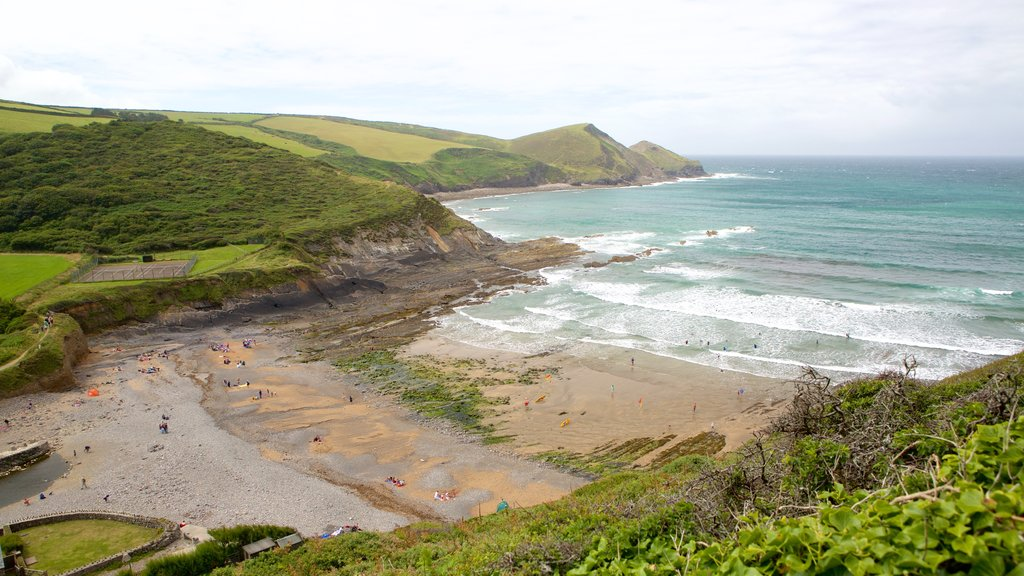 Crackington Haven which includes landscape views and a beach