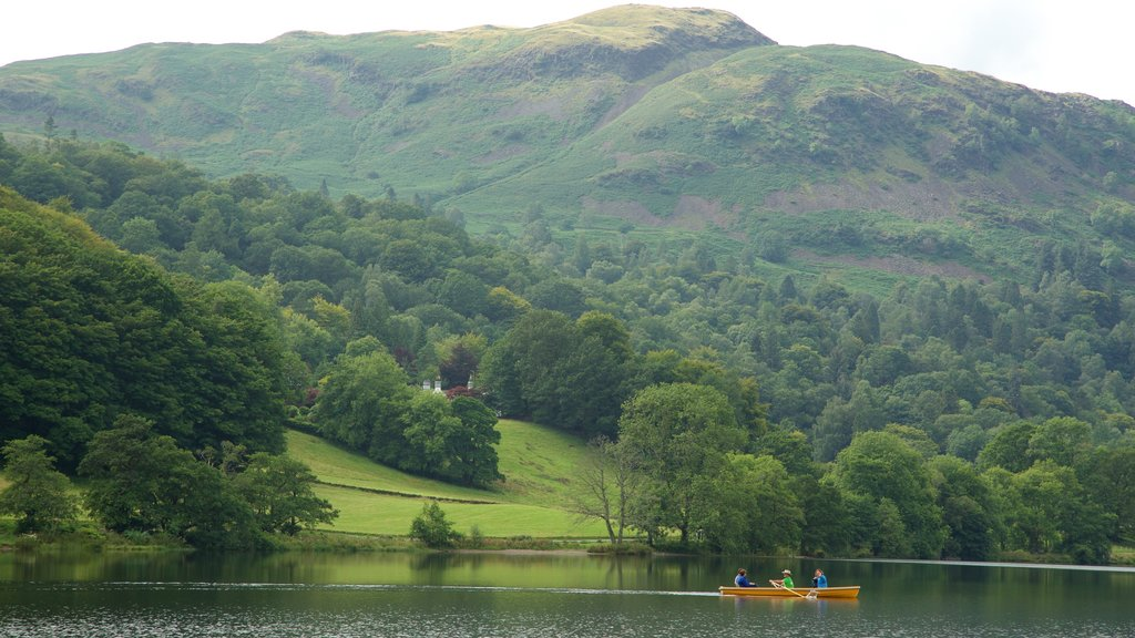Grasmere featuring kayaking or canoeing, forest scenes and a lake or waterhole
