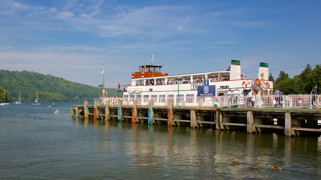 Bowness-on-Windermere featuring a ferry and general coastal views