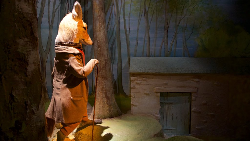 World of Beatrix Potter which includes a statue or sculpture and art