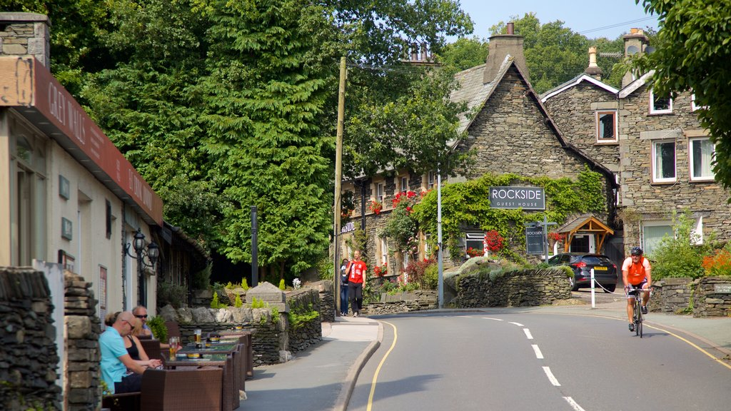 Windermere which includes cycling, street scenes and outdoor eating