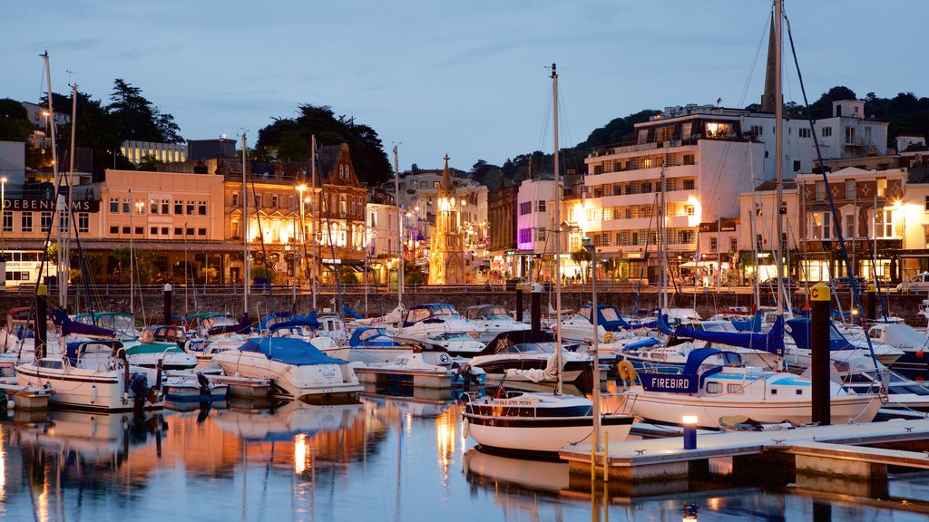 Torquay featuring a marina, boating and a coastal town