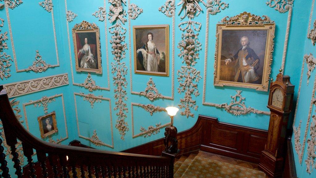 Powderham Castle which includes interior views