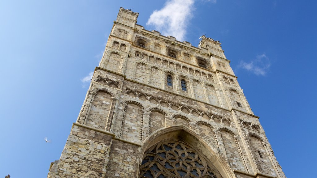 Exeter Cathedral which includes heritage architecture