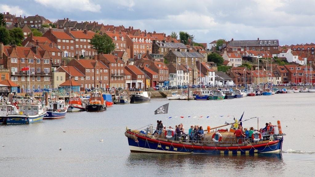 Whitby featuring a coastal town, boating and a marina