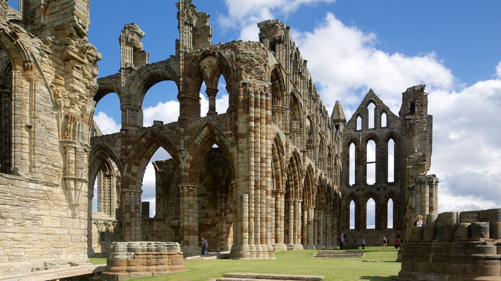 Whitby Abbey which includes heritage architecture