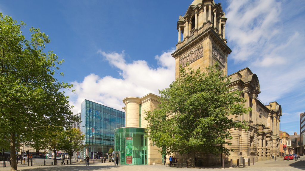 Laing Art Gallery Materials which includes heritage architecture, street scenes and a city
