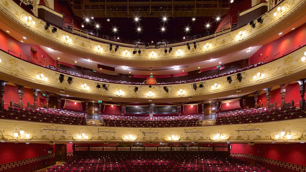Newcastle-upon-Tyne Theatre Royal showing interior views and theater scenes