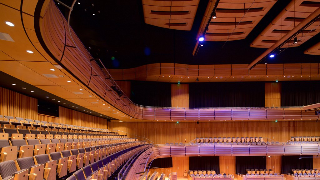 Sage Gateshead which includes theater scenes and interior views